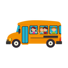 bus school transport icon vector illustration design