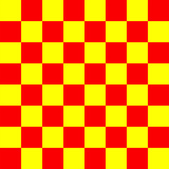 Red and yellow Chess board 8 by 8 grid, High resolution background and 3D repeatable texture