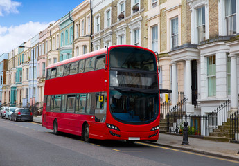 Foto auf Leinwand London roten bus London bus near Portobello road in UK