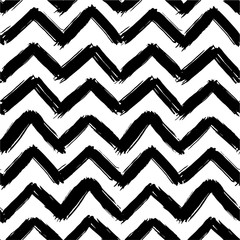 Vector seamless pattern with painted zigzag