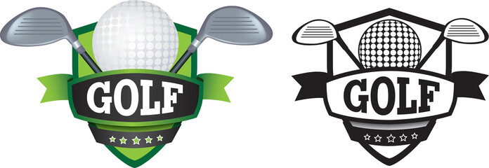 golf logo or badge, shield or branding