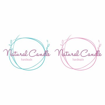 Set of Logo for Beauty and Cosmetics. Handmade Candle Spa Logo Vector illustrations for Graphic and Web design, for Natural and Organic Products, Healthy Life, Beauty Care.