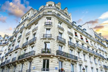Immeuble Hausmann à Paris, Hausmann building in Paris, France