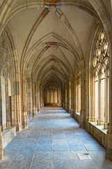 Medieval cloister of The Pandhof in Utrecht, Netherlands