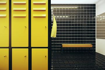 Bright locker room