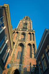 View on the Domtower of Saint Martins Cathedral in Utrecht