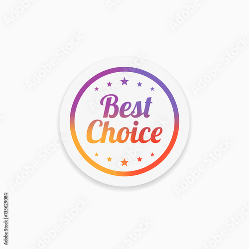 Best Choice Label