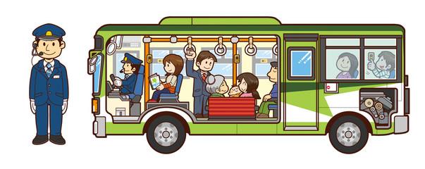 バスと車掌さん
