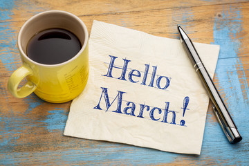 Hello March on napkin Wall mural