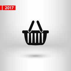 basket  icon, vector illustration. Flat design style