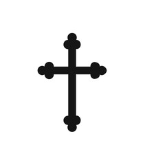 Christian cross icon.