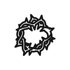thorny crown icon.
