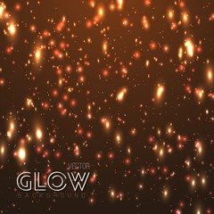 Illustration of Vector Neon Glow Effect. Glowing Sparkle Explosion. Particle Burst Motion Energy Effect