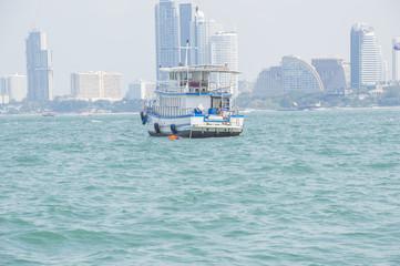 Fishing boat on sea at morning, Thailand