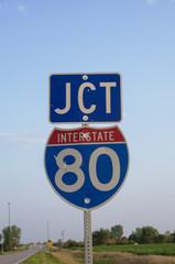 Interstate 80 JCT Sign