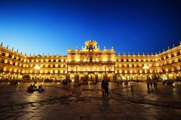 Plaza Mayor(main square) in Salamanca, Castilla y Leon, Spain