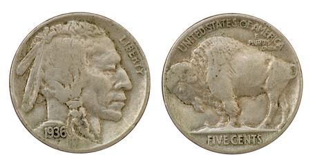 Buffalo Indian Head Nickel