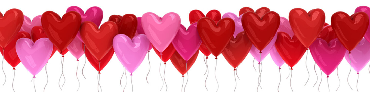 Valentine's day balloon hearts