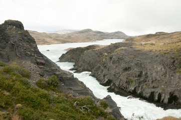 Wall Mural - Salto Grande Waterfall - Torres Del Paine - Chile