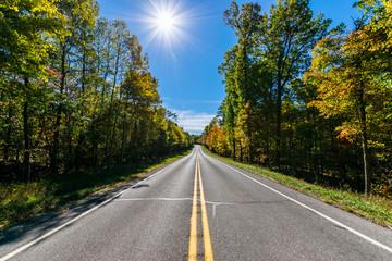 Lush Farmland Roads Flowing Around Raystown Lake, in Pennsylvani