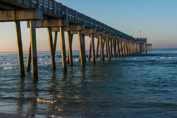 Peir at Panama City Beach, Florida at Sunrise