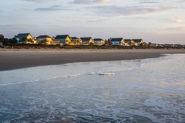 Skyline of Beach Homes at Ise of Palms Beach, in Charleston Sout