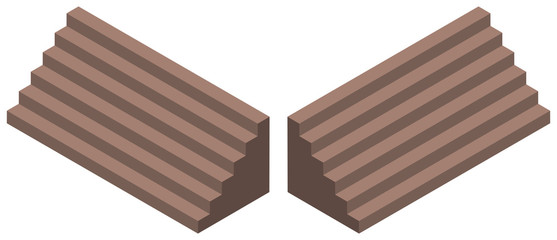 3D design for brown stairs