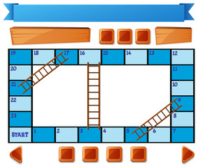 Blank blue board game on white