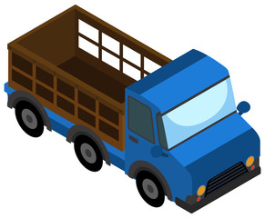 Simple isometric truck on white