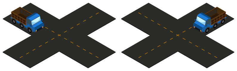 3D design for intersection with truck