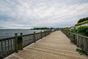 Warm Cloudy day in Havre De Grace, Maryland on the Board Walk