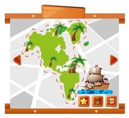 Kids sailing around big land