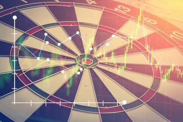 blank dartboard business success ideas