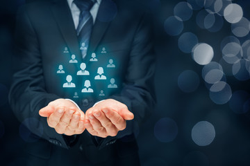 Customer care and manage human resources