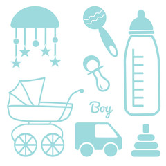 Baby and Newborn Set for a Boy