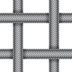 Vector seamless pattern of braided cord