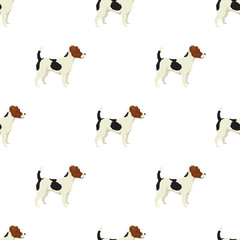 Dog collection Jack Russell terrier Geometric style Seamless pat