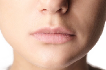 Close-up of woman's lips