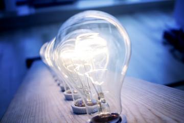 Bulb with light on