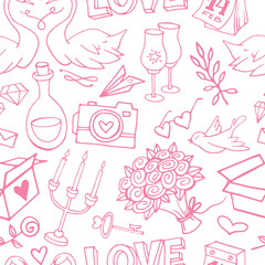 Cute and delicate Valentine's Day seamless pattern