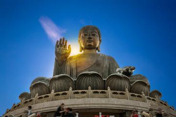 Giant Buddha, Tian Tan Buddha at Po Lin Monastery in Hong Kong