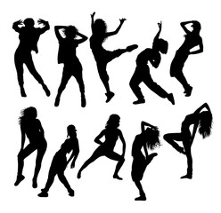 Street Dance Dancer Silhouettes, art vector design