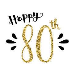 """""""HAPPY 80th BIRTHDAY"""" Card"""