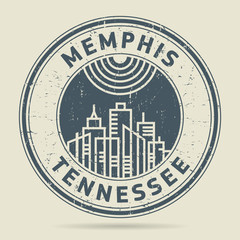 Grunge rubber stamp or label with text Memphis, Tennessee