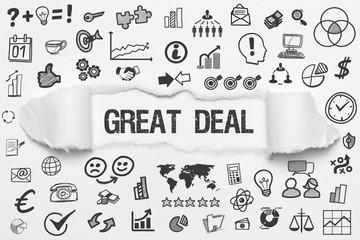 Great Deal / weißes Papier mit Symbole