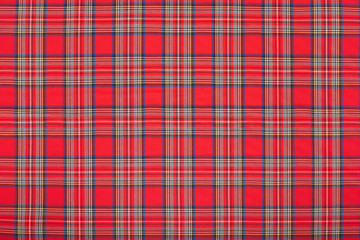 Red tartan, scottish fabric texture background