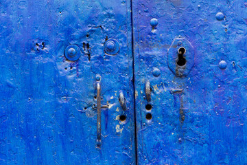 Old blue doors in Peru
