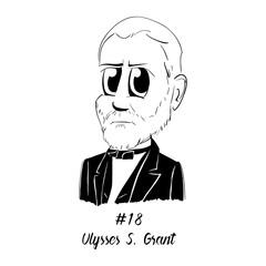 Cartoon Caricature Character Historical Portrait US Presidents Comic Emoticon