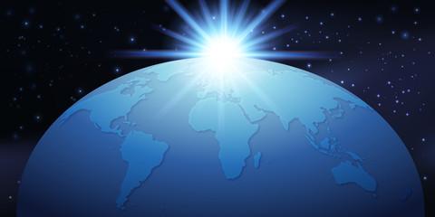 Terre - Monde - Planisphère - globe - Rayon