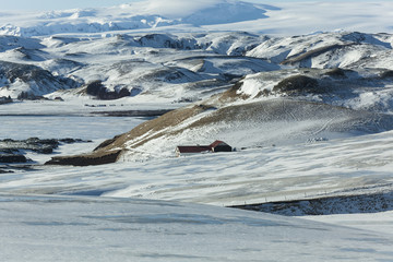 Rural Iceland in winter.
